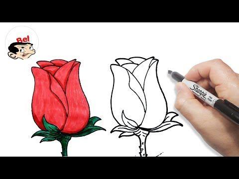 رسم وردة بالخطوات للمبتدئين تعلم الرسم Youtube Acrylic Painting Flowers Flower Painting Wood Burning Art