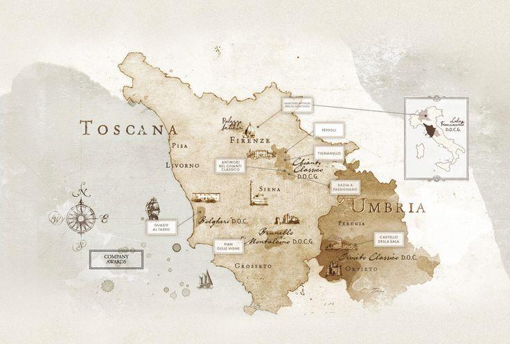 Con esta imagen os invitamos a un viaje por los viñedos de Marchesi Antinori en los que se producen algunos de los mejores vinos del mundo. Tignanello, Pian delle Vigne, Solaia, Bramito del Cervo entre otros... ¿los habéis probado ya?