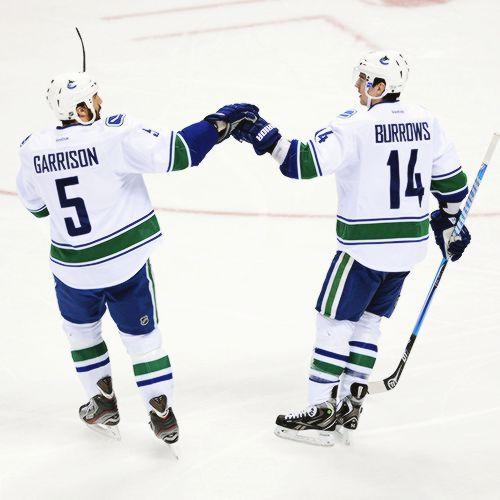 Jason Garrison and Alex Burrows, Vancouver Canucks