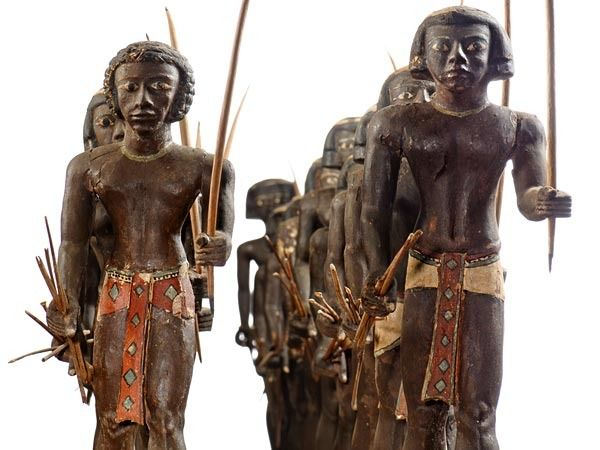 Nubian Archers, Cairo Museum. Figures like this was believed to come to life in Duat, to serve the dead