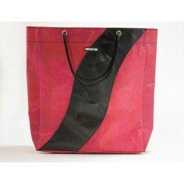 Recycling Plastiksäcke und Reifenschlauch: Shopper Bag. #NachhaltigSchenken