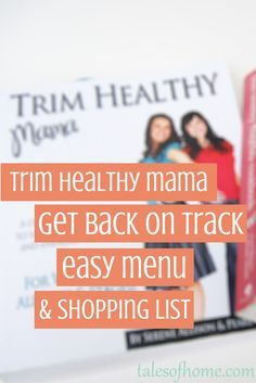 Get an entire week of THM meal planning, complete with shopping list for free! Trim Healthy Mama friendly, gluten-free, inexpensive, easy to prepare recipes, and no special ingredients needed!