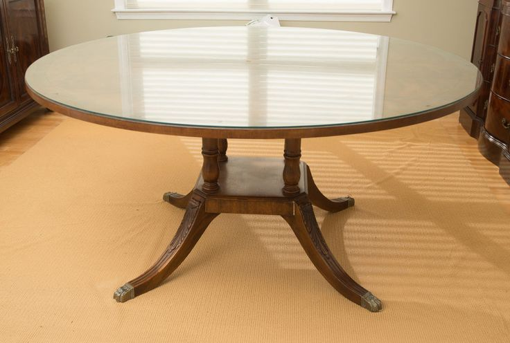 Drexel Heritage Round traditional Dining Table w/ leaf Expandable FREE SHIPPING #Traditional