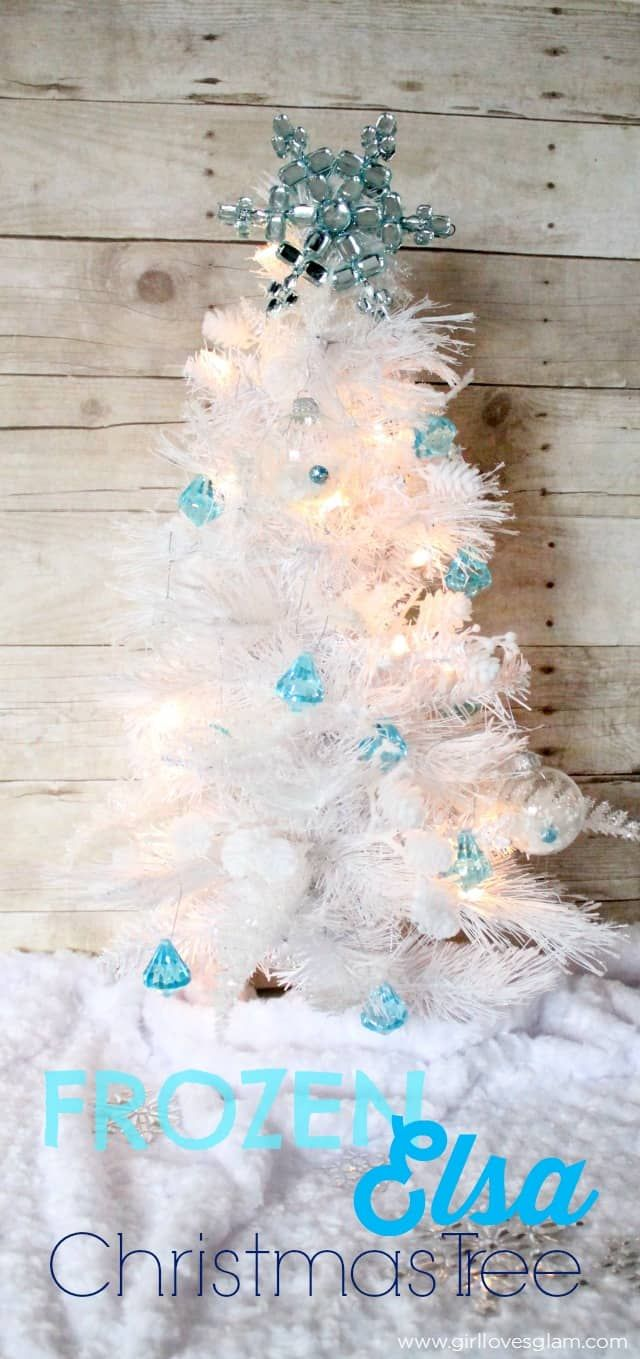 gorgeous frozen elsa inspired christmas ornament and mini tree