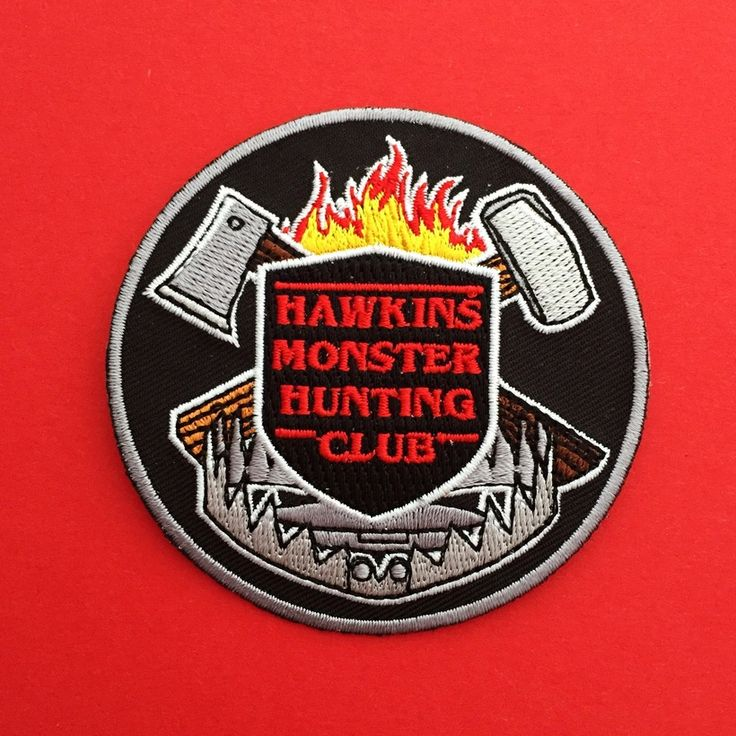 Hawkins Monster Hunting Club - Stranger Things Patch   hand over your fairy cakes