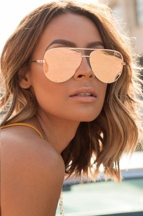 Quay X Desi High Key Sunglasses in Gold