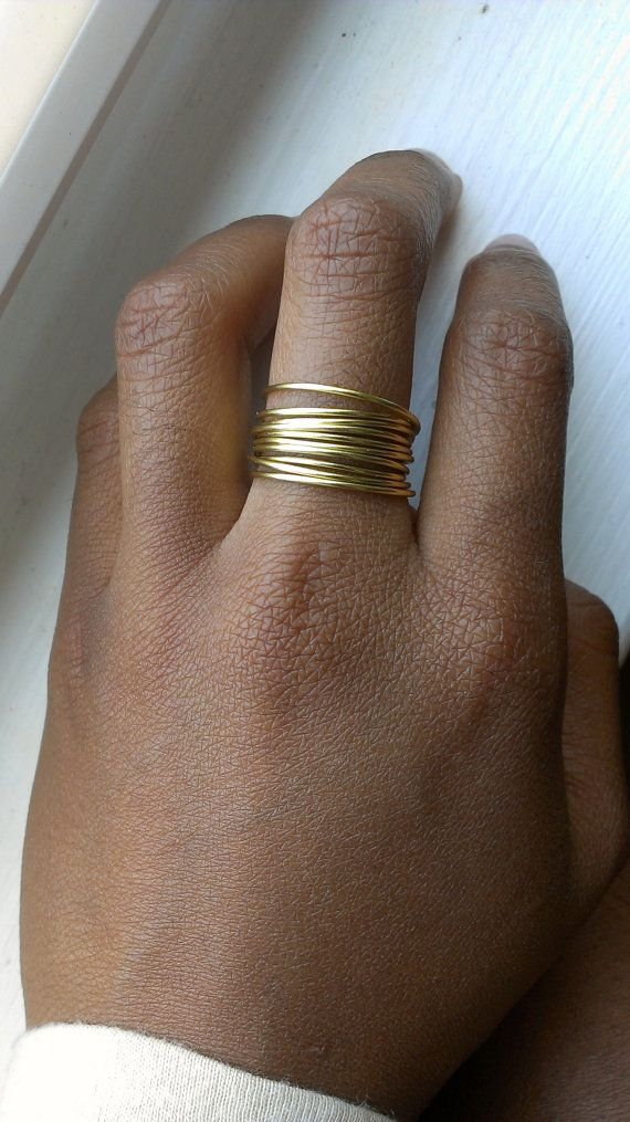 10 Stackable Dainty Hipster Rings by LilliesnEmeralds on Etsy, $9.00