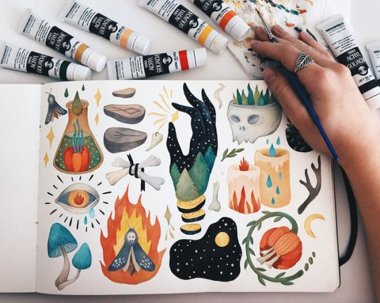 Olga Svart Illustration