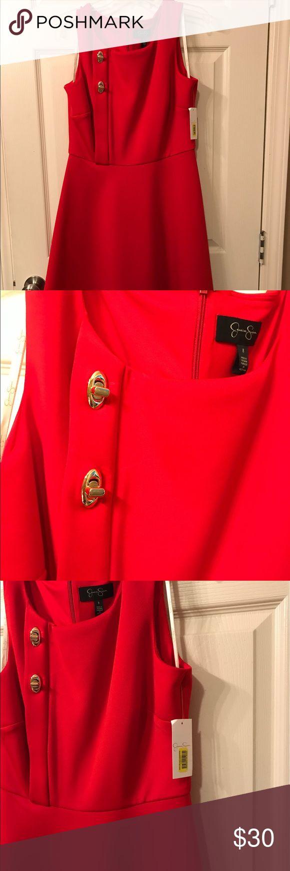 Jessica Simpson Red Sleeveless Dress Brand new sleeveless red dress Jessica Simpson Dresses