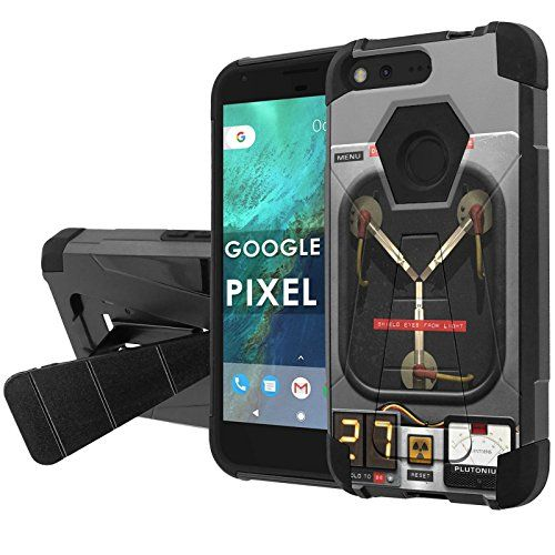 "Buy Google [Pixel] [5"" Screen] Combat Case [NakedShield] [Black/Black] Heavy Duty Shock Proof Armor Art [Kickstand] [Screen Protector] - [Flux Capacitor] for Google Pixel NEW for 13.95 USD | Reusell"