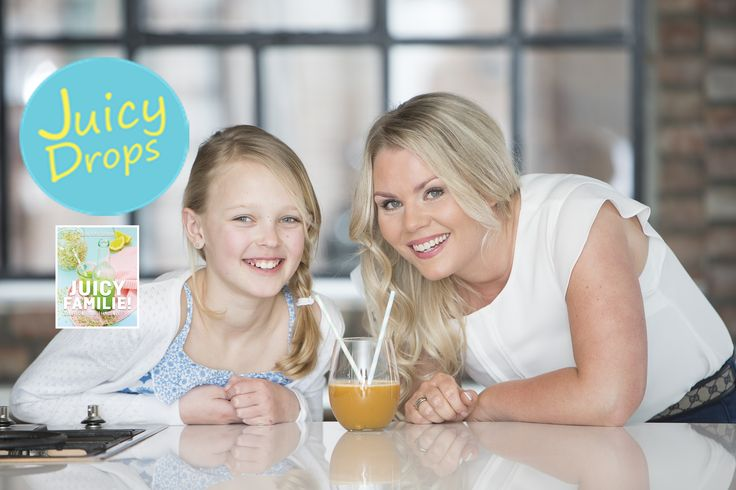 Photo from my latest book Juicy Family! Do you juice with your kids?  Bilde fra den siste boken min Juicy familie! Juicer du med barna dine? www.juicydrops.no