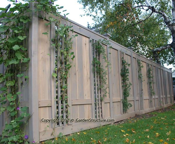 17 best images about trellis fence designs on pinterest for Cool fence ideas