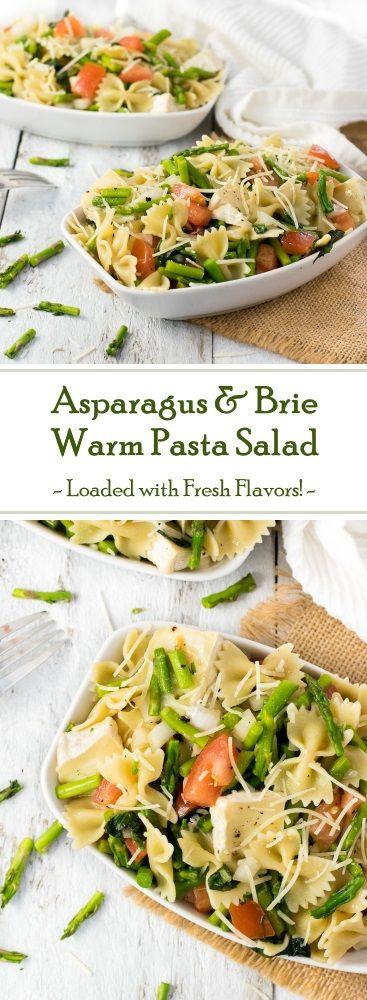 Asparagus and Brie Warm Pasta Salad Recipe