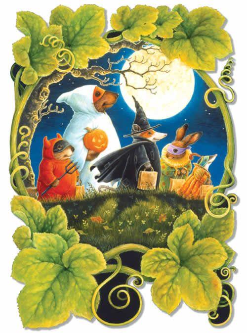 holiday animals trick or treats in costumes halloween iphone wallpaper background holiday halloween art lock screen - Wheeler Farm Halloween