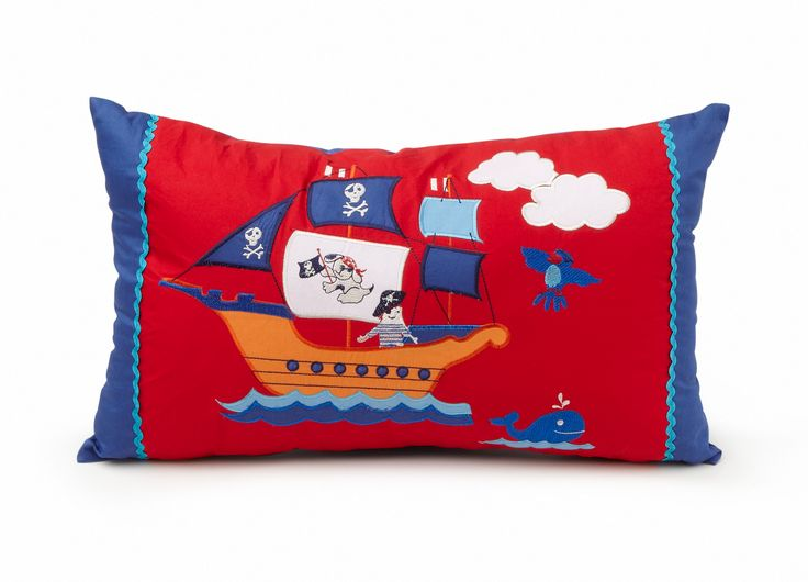 'Ahoy There' decorative cushion from the matching boys bedlinen range