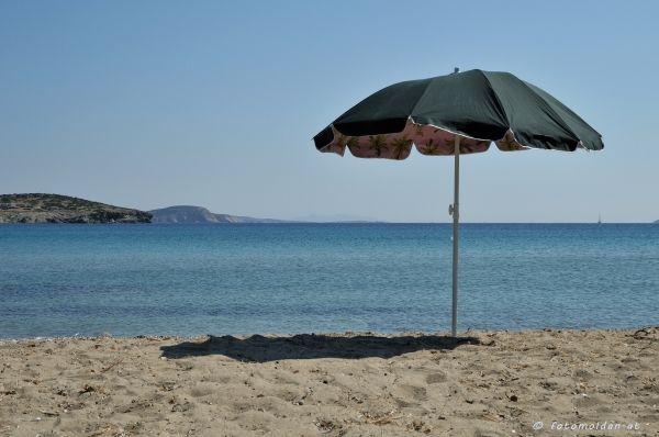One umbrella, one shadow