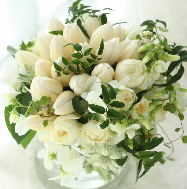 ブーケ チューリップ このブログを見て下さる方へお伺いしたいことの画像:一会 ウエディングの花