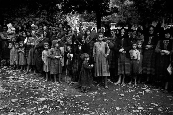 David Seymour  Refugees from the civil war areas.