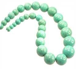 Art.Nr. 10559822 : Türkis-Edelsteine rec. Perle ca. 8-20mm, Strang ca. 32St.
