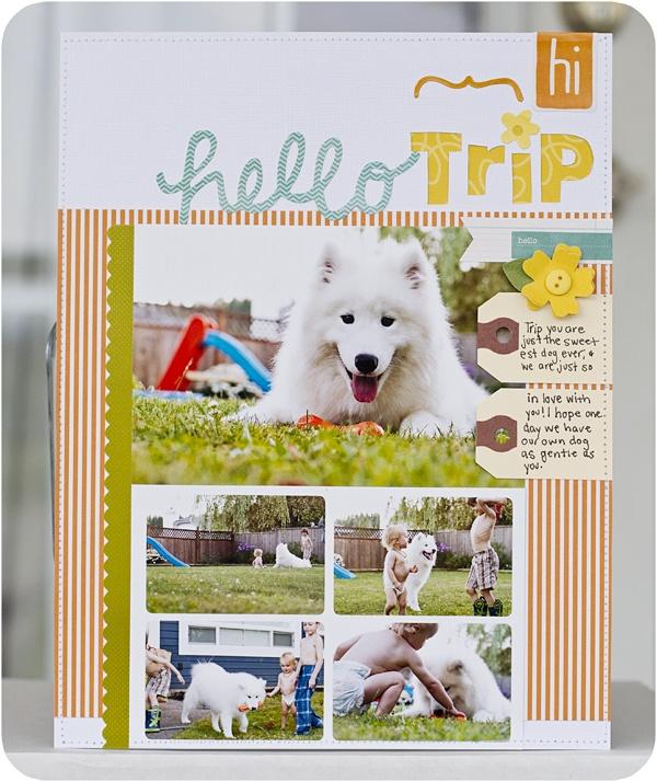 Laura Craigie | Pebbles Inc: Scrapbook Ideas, Galleries Projects, Paper Lulu, Scrapbook Inspiration, X12 Scrapbook, Colors Schemes, Hello Trips, Scrapbook Layout, Pet Scrapbook Collection