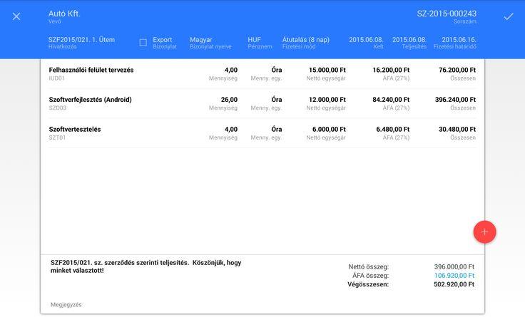 Tablet Számla Új számla létrehozása  https://play.google.com/store/apps/details?id=com.tabletinvoice.app