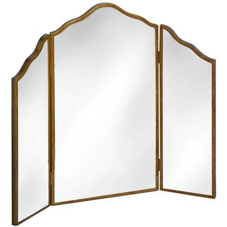 Venetian Mirrored Three Way Dressing Table Mirror