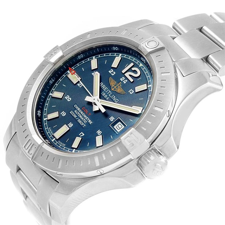 16063 Breitling Colt Blue Dial Automatic Stainless Steel Mens Watch A17388 SwissWatchExpo #men'sjewelry