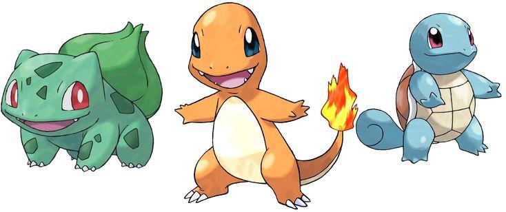 pokemon starters 1996