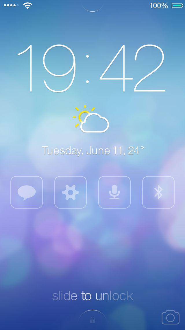 iOS7 Lock screen - Redesign