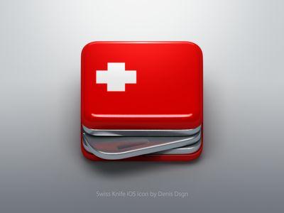 Swiss Knife iOS icon by Denis Bostandzic. #swissknife #icon #design #graphicdesign