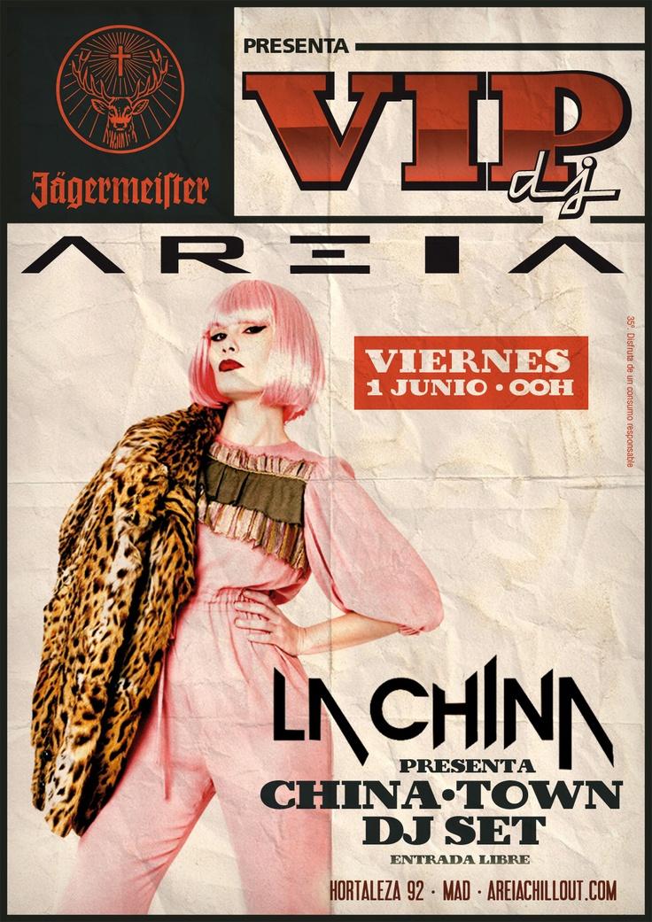 La China Patino en Areia VIP DJ  http://www.culturamas.es/ocio/2012/05/18/la-china-patino-en-areia-vip-dj/