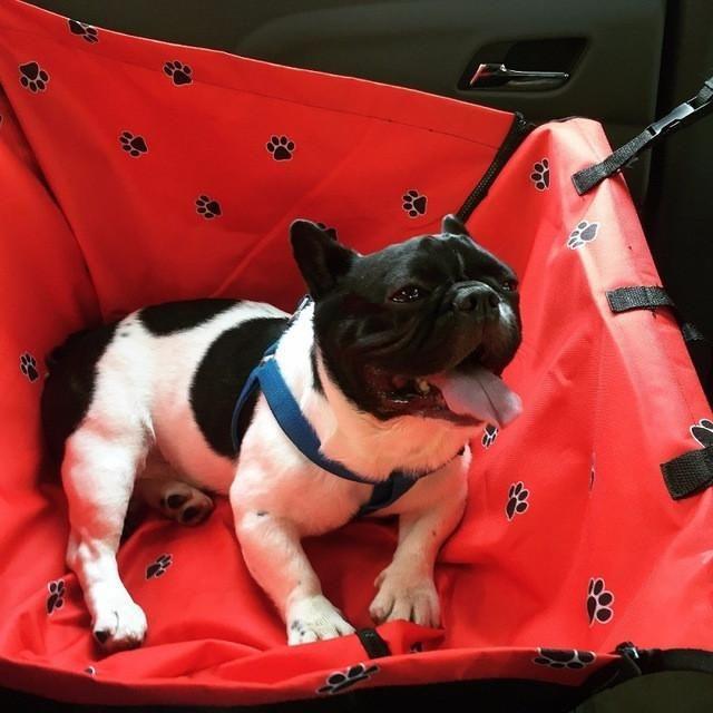 Front/Back Seat Dog Carrier For Car Zipper Hammock Dog Car Seat