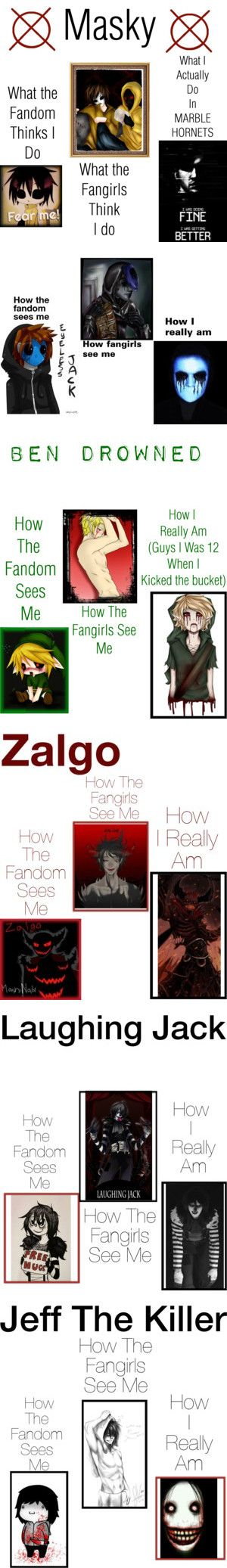 Creepypasta Memes by dragonladydoctor on Polyvore featuring art and creepypasta