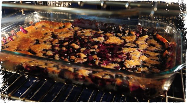 Blueberry Cobbler with Cornmeal Sugar Cookie Crust | A Chef's Life