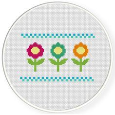 FREE for Feb 27th 2016 Only - Cute Flowers Cross Stitch Pattern