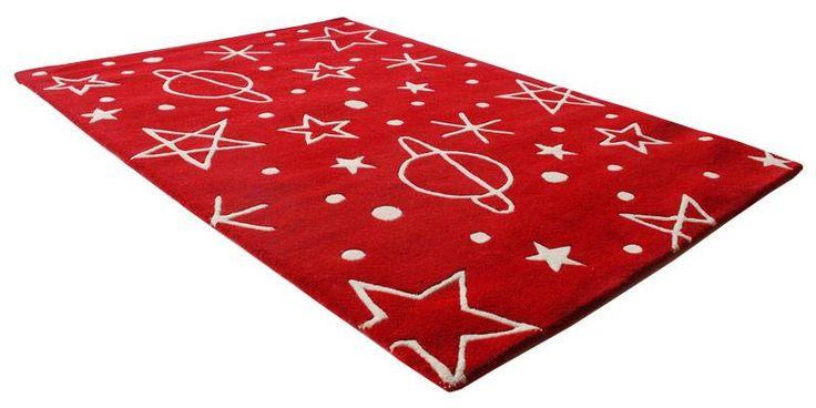 Barnmatta - Space röd