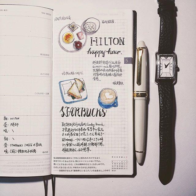 下樓拿了 hobo weeks 的快遞回來馬上寫上了!weeks確實還是好用~ #journal#diary#notebook#文房具#手帳#日記#hobonichi#Hobo#weeks#ほぼ日#ほぼ日#scrawl#sketch#sailor#pen#food#foodie#lovelife#breakfast#lunch#dinner#食物繪#食物記錄#繪日記