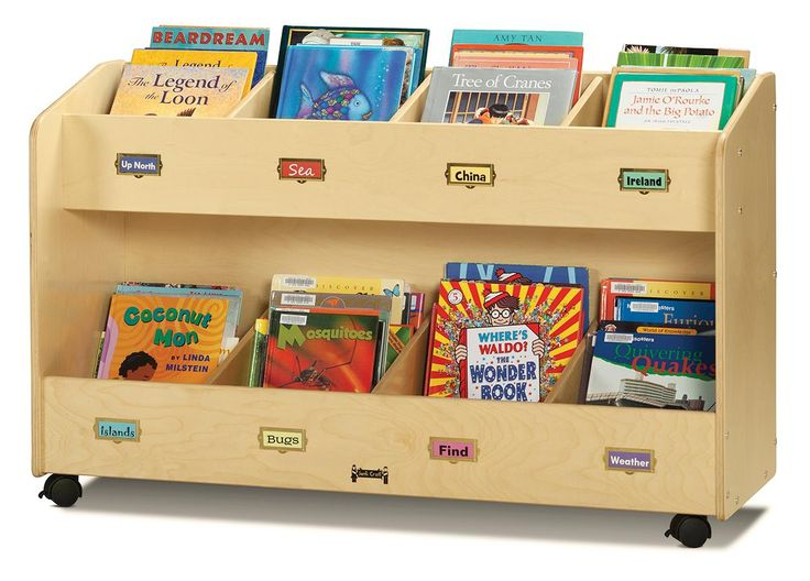 Lovely 2 Tiered Childrenu0027s Book Cart Display, Jonti Craft, Single Sided, Wood