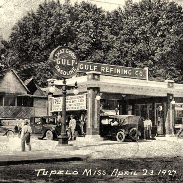 Grand Opening Gulf Gas Station 1927 Tupelo, MS
