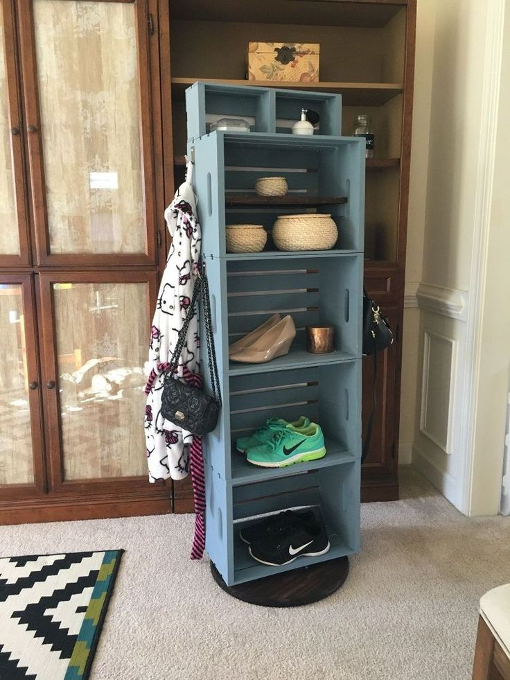 Spinning crate shelves on lazy suszn