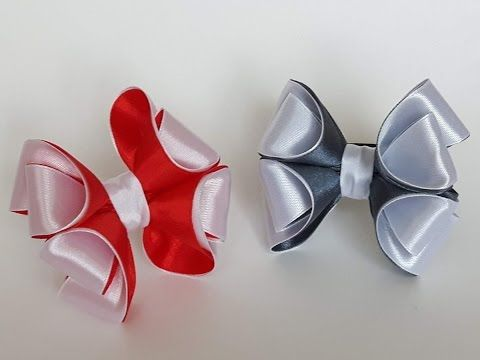 Украшение на заколку-автомат, брошь или ободок из лент 2.5 см. Валентина Инюткина МК - YouTube