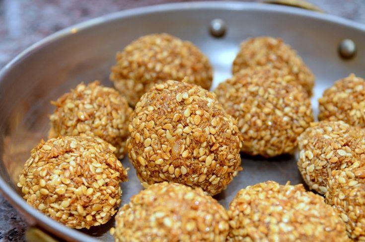 Tilko Laddu ( Sesame balls) Nepali dessert