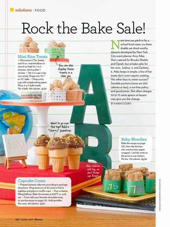 Bake Sale Ideas parties