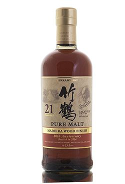 Bottled in 2014 to celebrate the 80th Anniversary of Nikka whisky, this limited edition Taketsuru 21 year old has been finished in casks that previously held Madeira. 546 bottles filled at 46% vol.   http://www.abbeywhisky.com/nikka-taketsuru-21-year-old-madeira-finish-80th-anniversary
