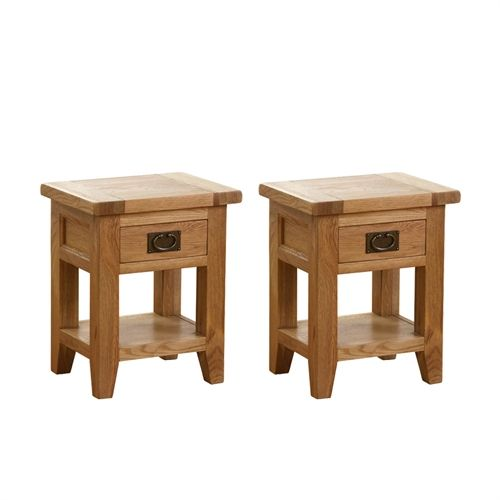 Montague Oak Set of 2 Small Bedside Tables (M505) with Free Delivery | The Cotswold Company