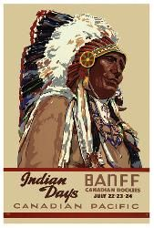 Canadian Pacific vintage print - Indian Days Banff I