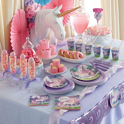 unicorn party decorations | Unicorn Fantasy Party Supplies                                                                                                                                                                                 More