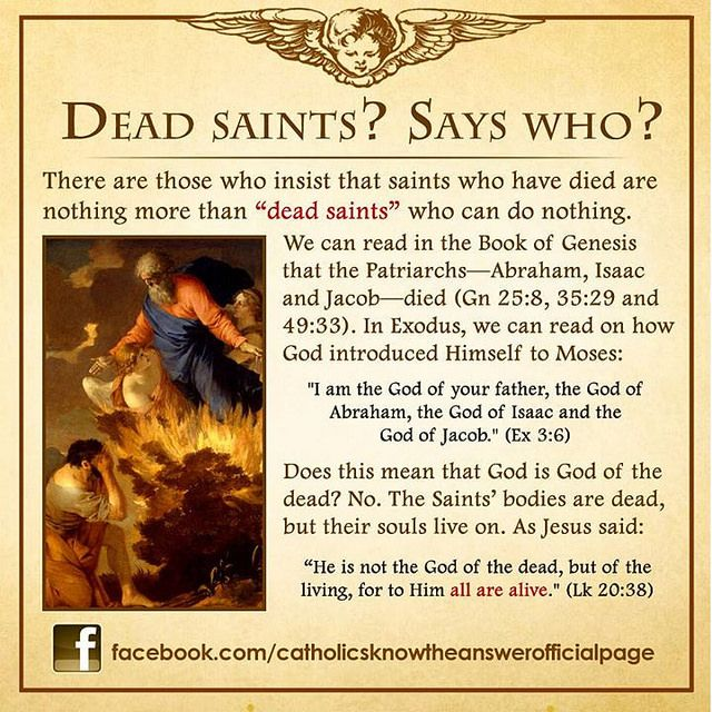 Dead Saints? Says Who?