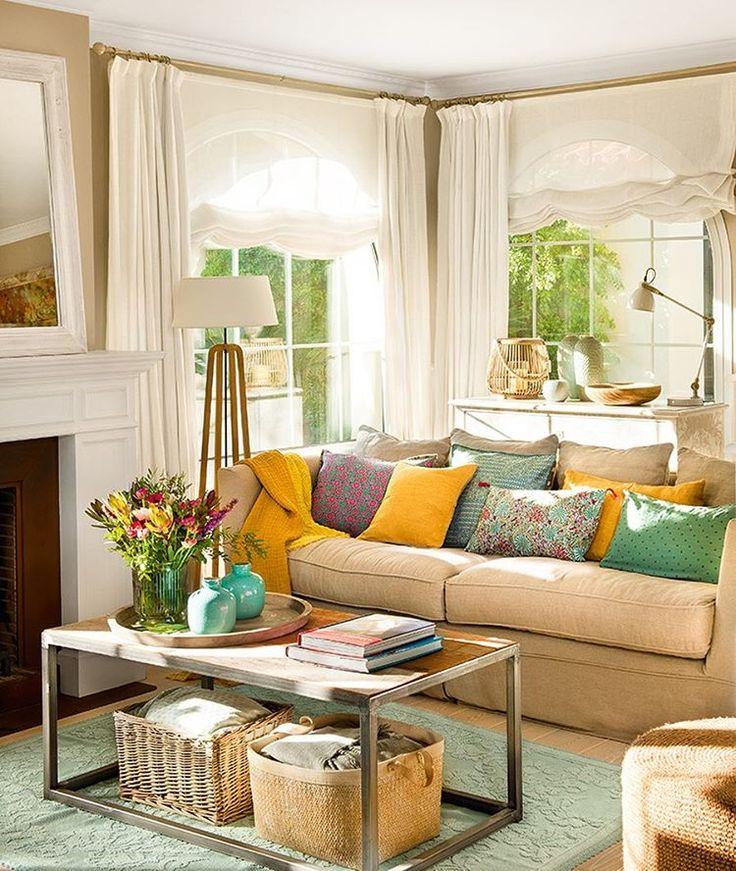 Las 25 mejores ideas sobre cortinas elegantes en for Cortinas vintage salon