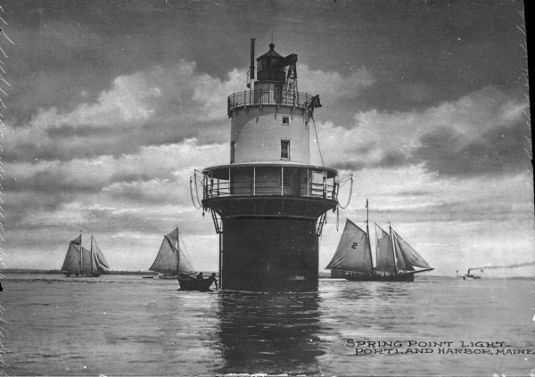 Spring Point #Lighthouse | Photograph | #Wisconsin Historical Society    http://dennisharper.lnf.com/